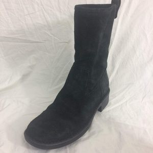 Born Motorcycle Boots Black Suede Pull On